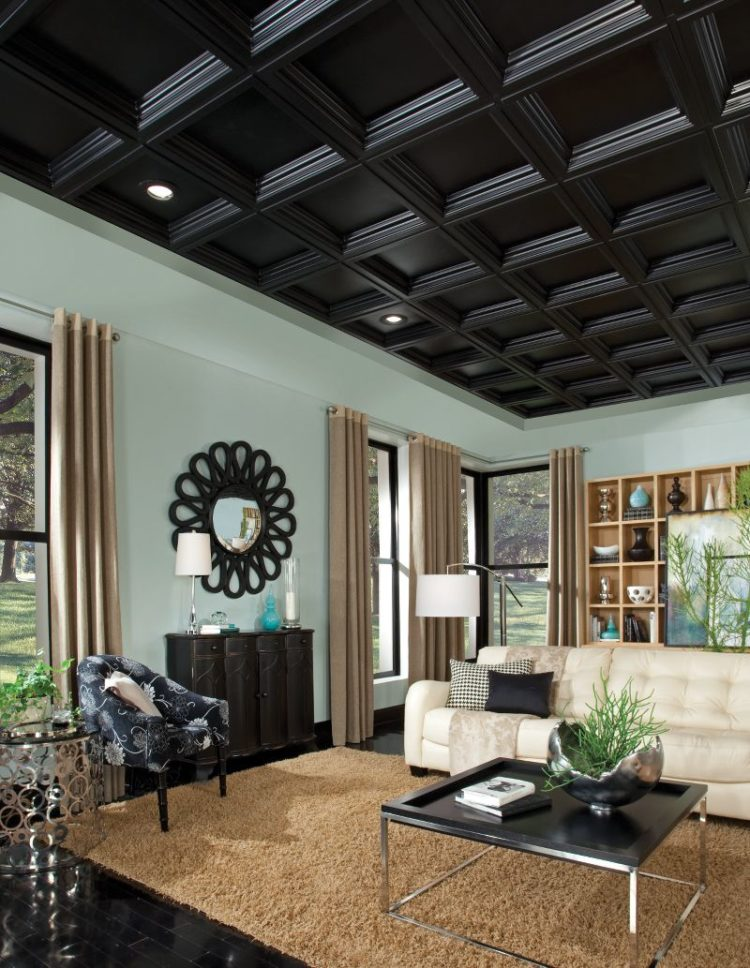 coffered ceiling box beams