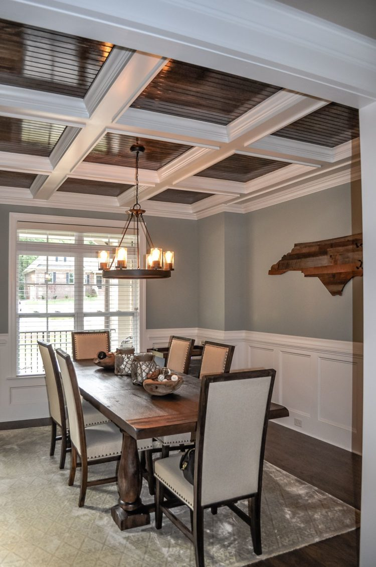 coffered ceiling depth