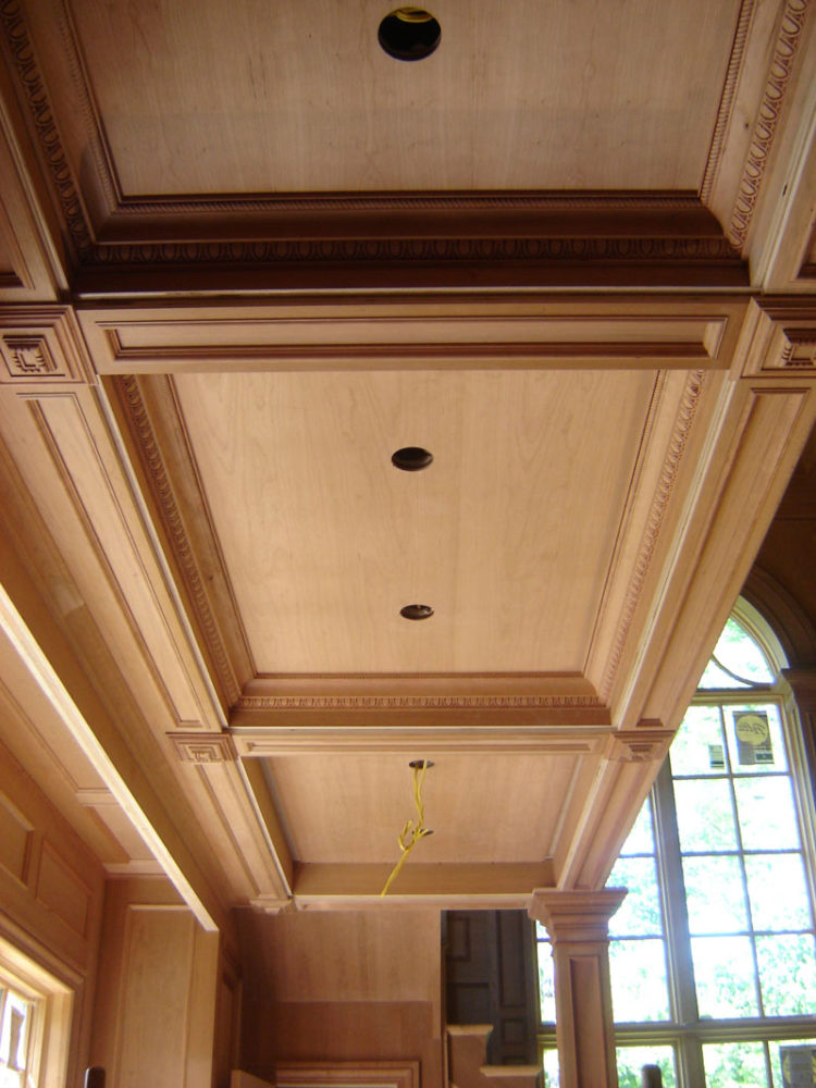 coffered ceiling entrance