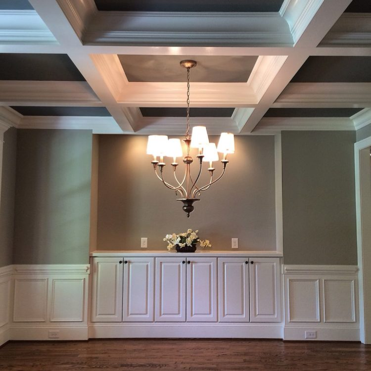 coffered ceiling for low ceilings