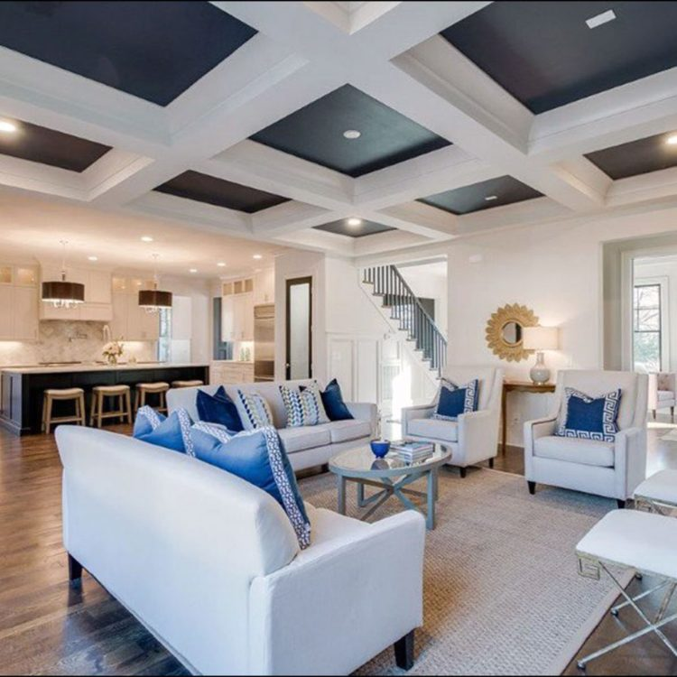 coffered ceiling faux beams