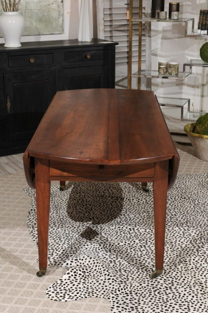 style of drop leaf table crossword