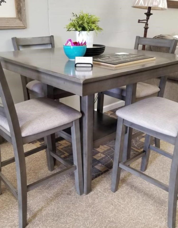 counter height table and 2 chairs