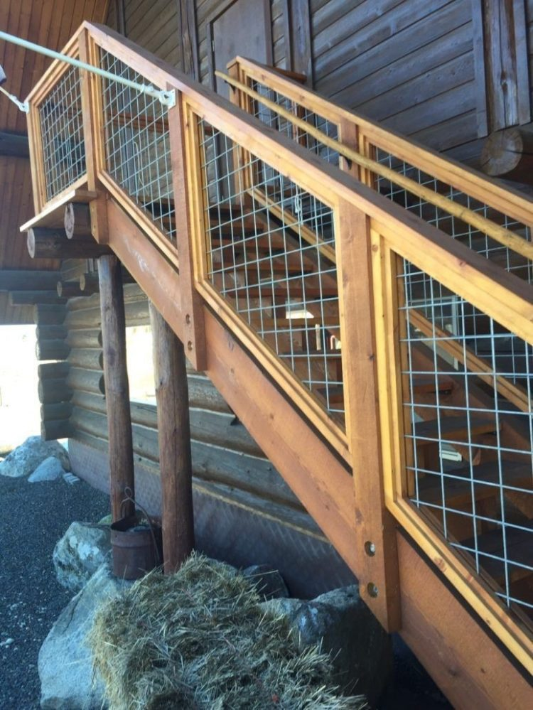 treated deck railing ideas 5
