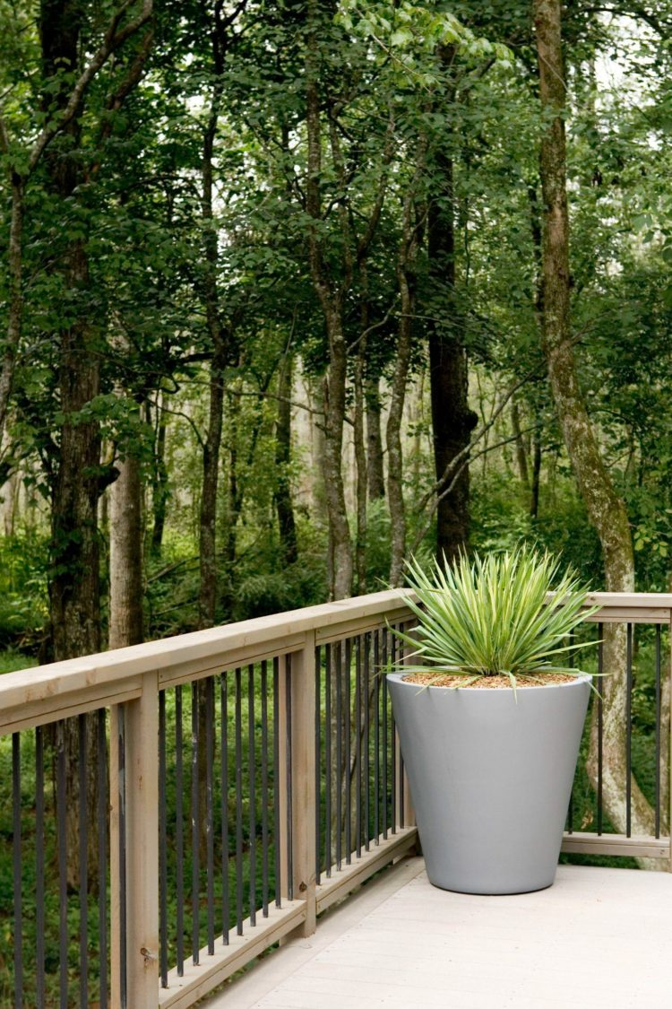 deck railing ideas modern