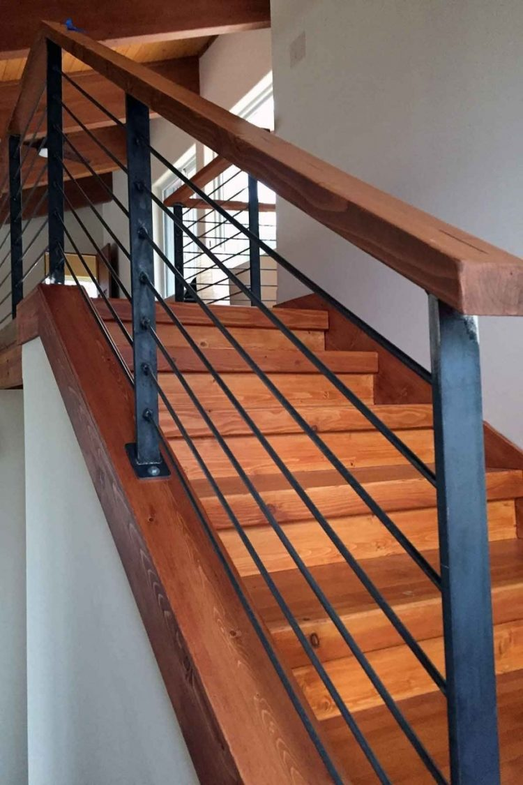 steel deck railing ideas 4