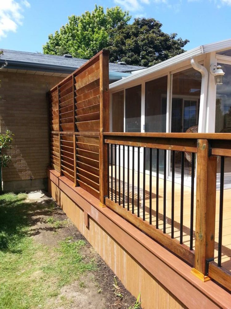 deck step railing ideas 5