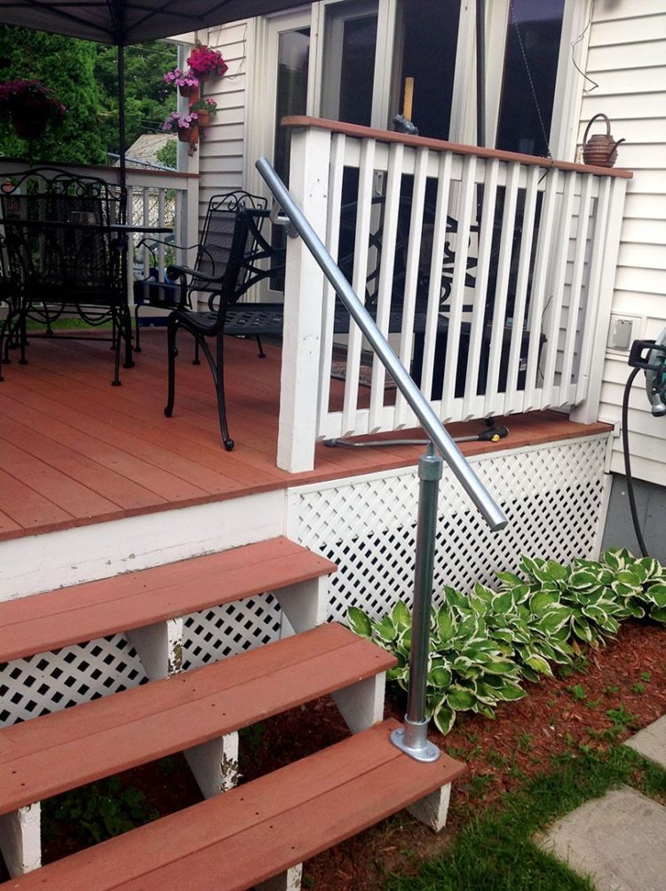 redwood deck railing ideas