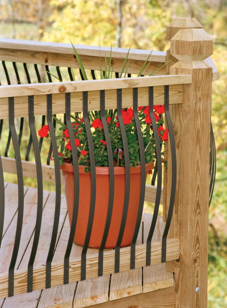 deck railing spindle ideas