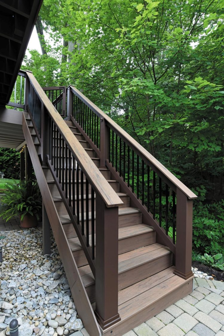 deck railing stain ideas
