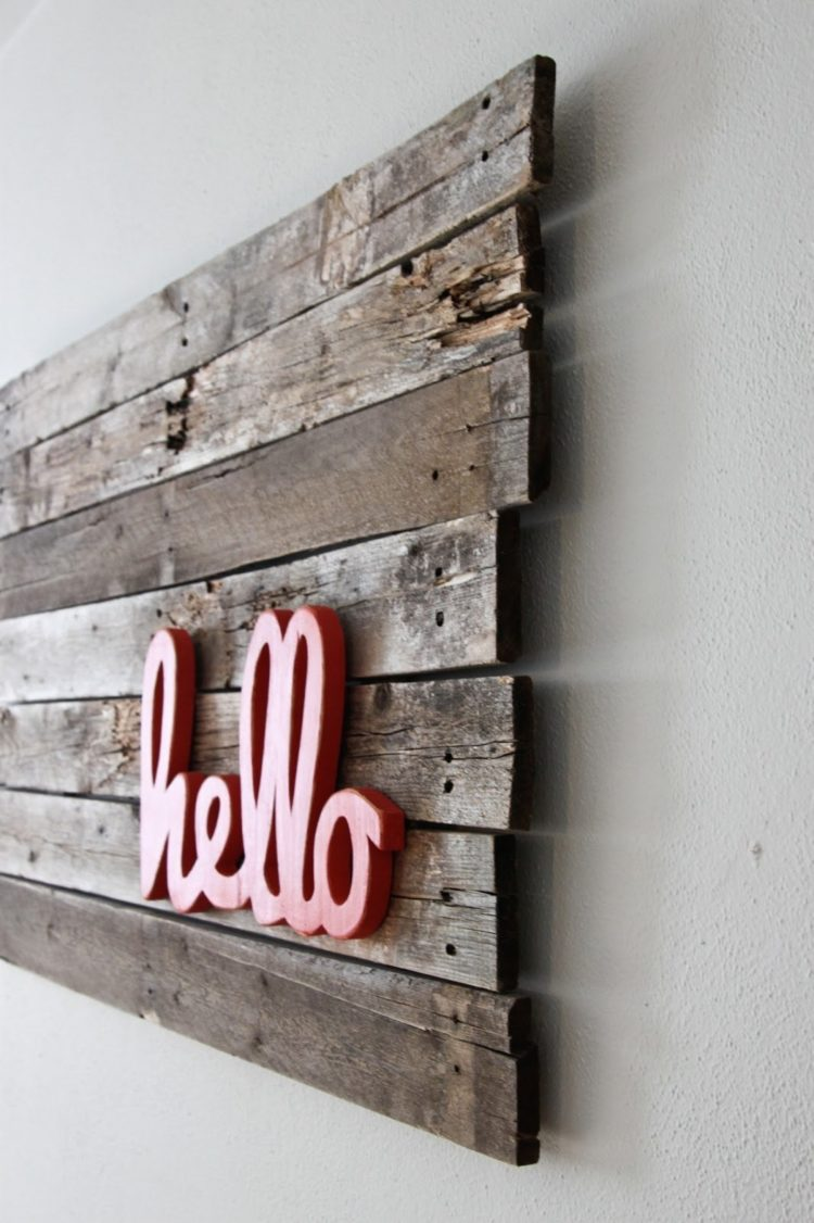 50 Handmade Pallet Wood Wall Decor That Are Really Awesome