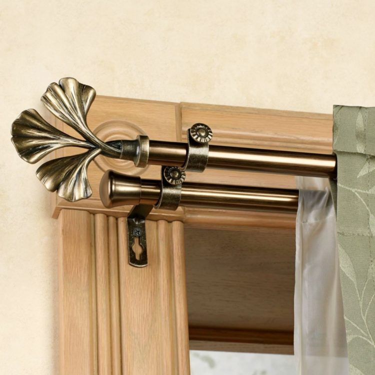 double curtain rod farmhouse