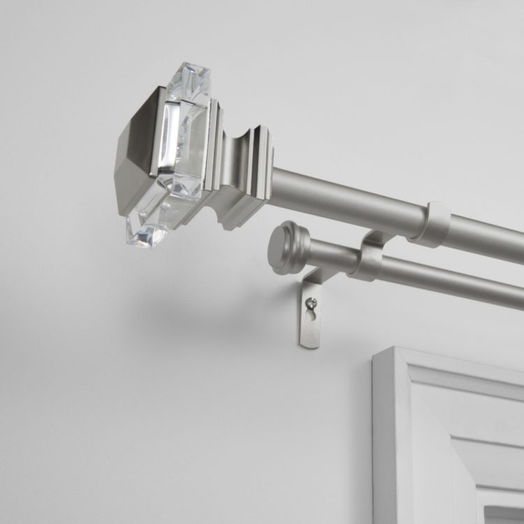 double curtain rod extension