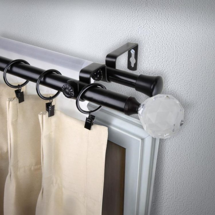double curtain rod west elm
