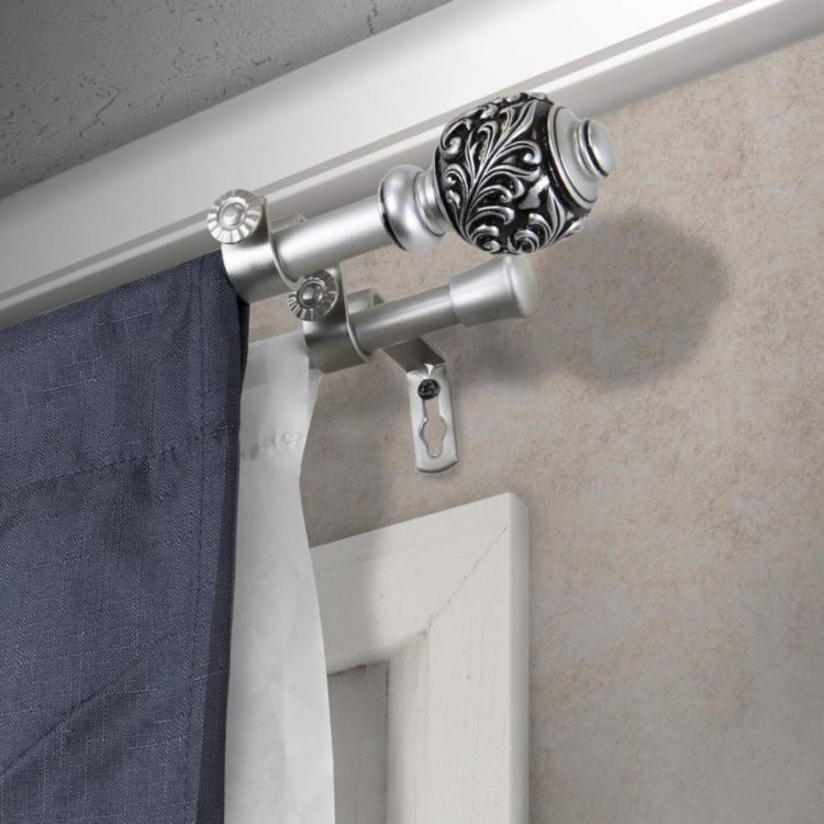 double curtain rod extender