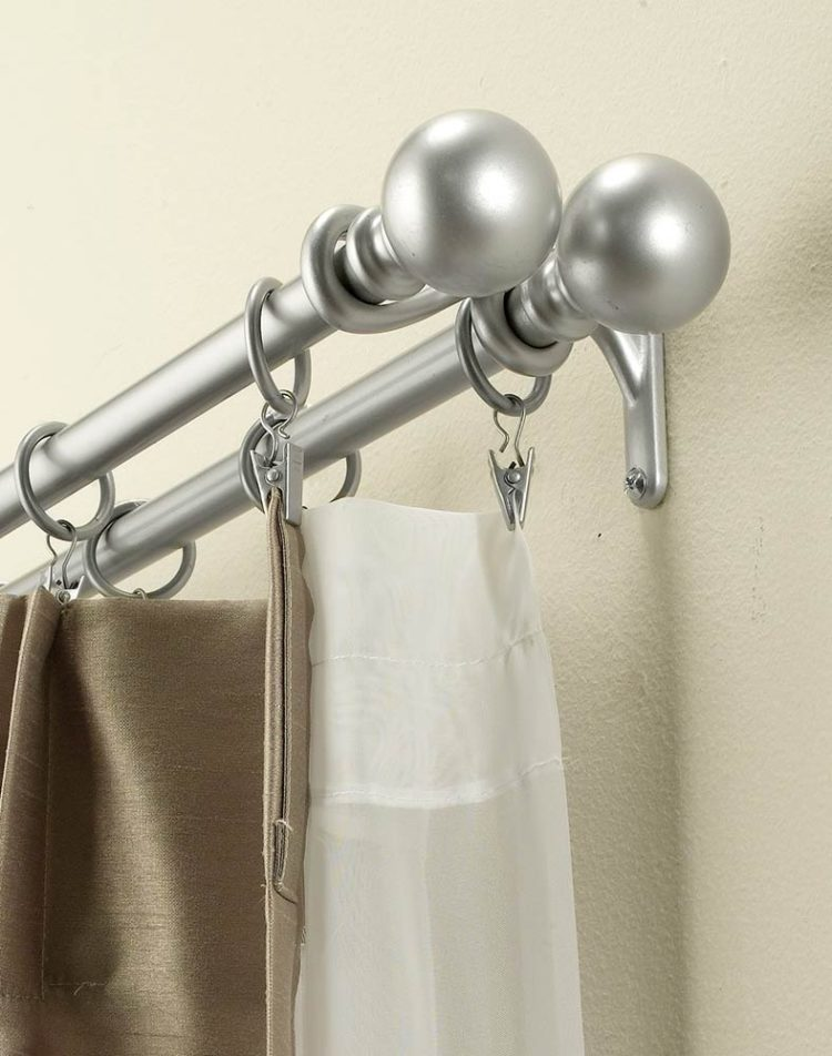 double curtain rod kit home depot