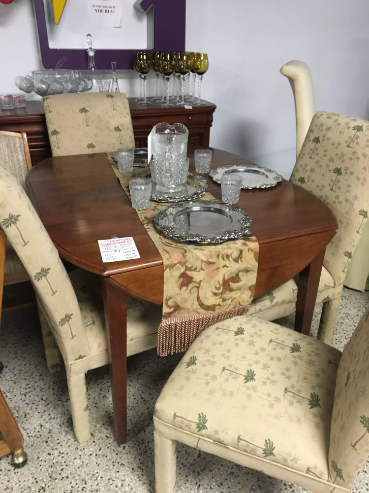 drop leaf table brown