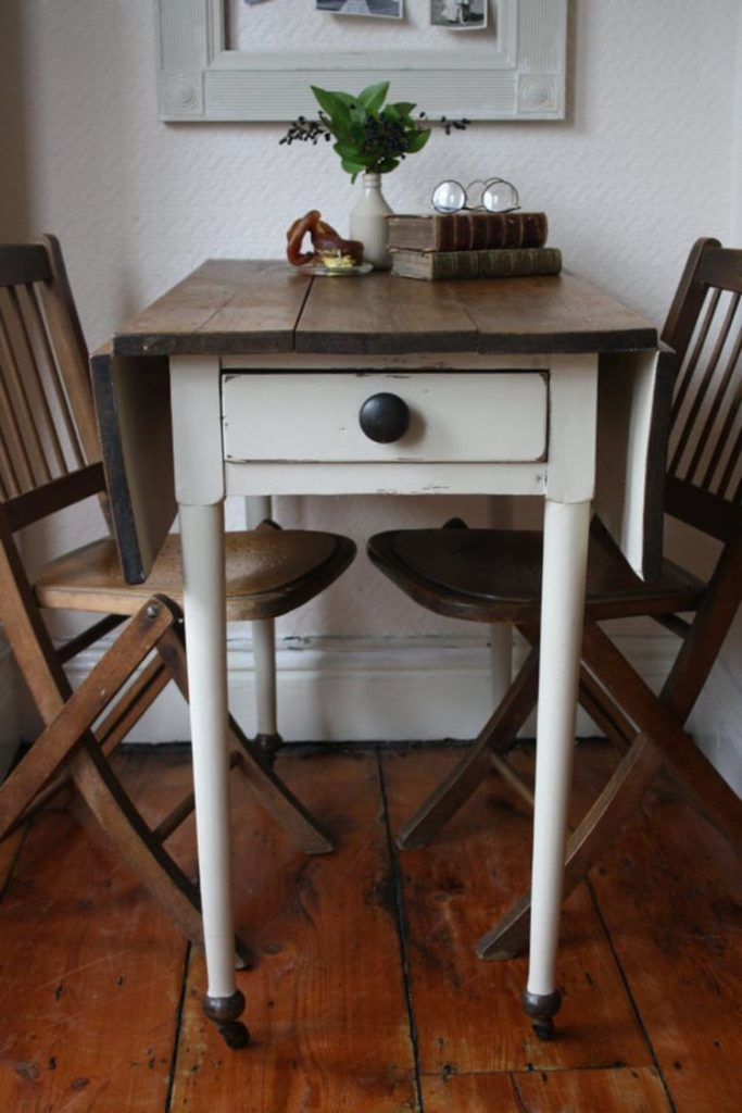 drop leaf table dark wood
