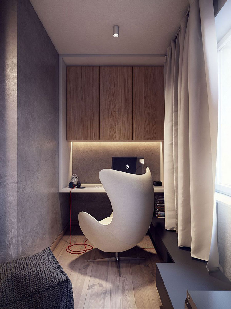 egg chair in living room