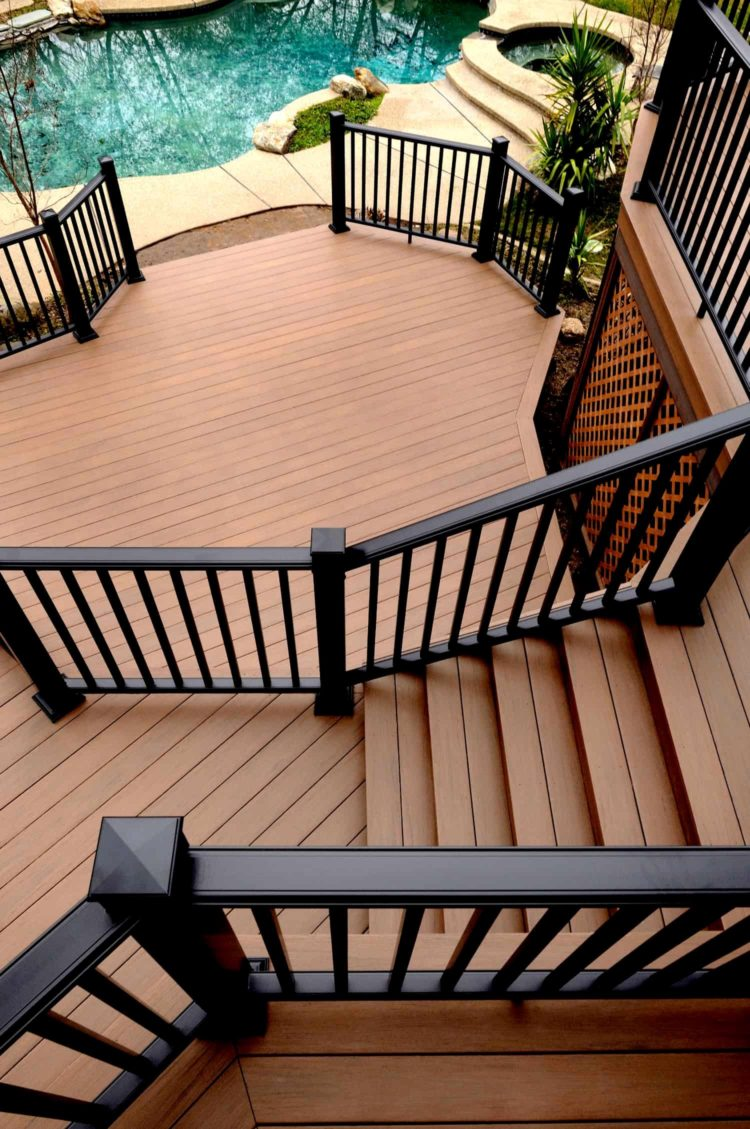 deck step railing ideas 4