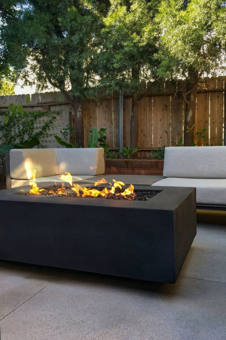 fire pit table for deck