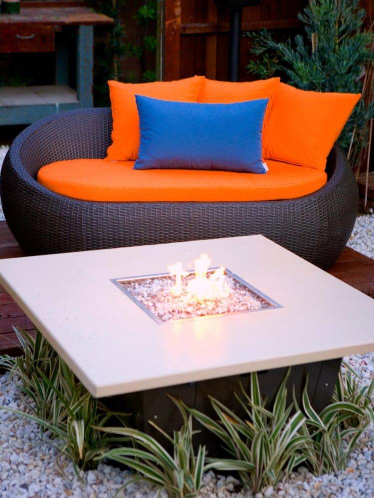 fire pit table ice bucket