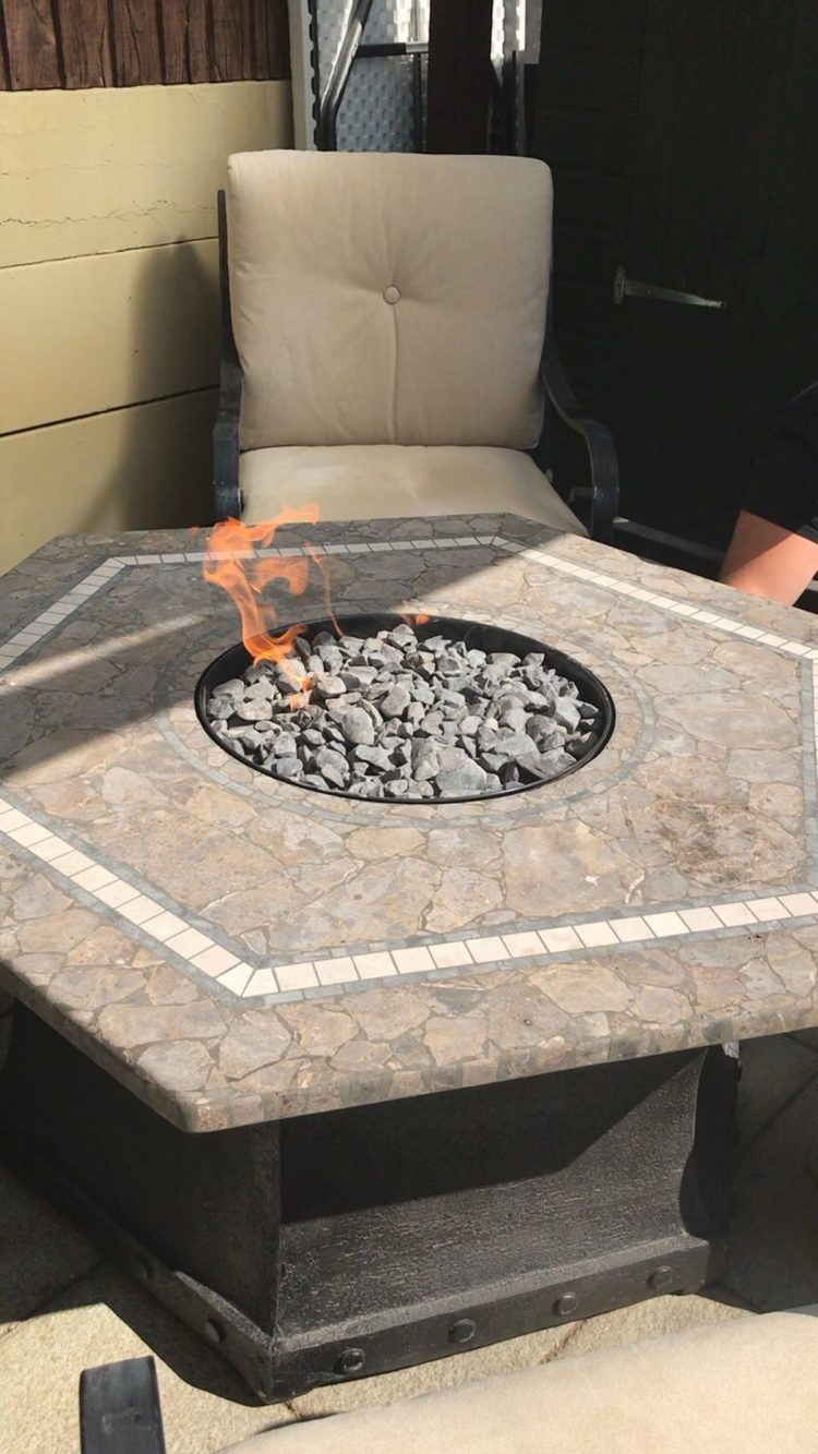 fire pit table indoor