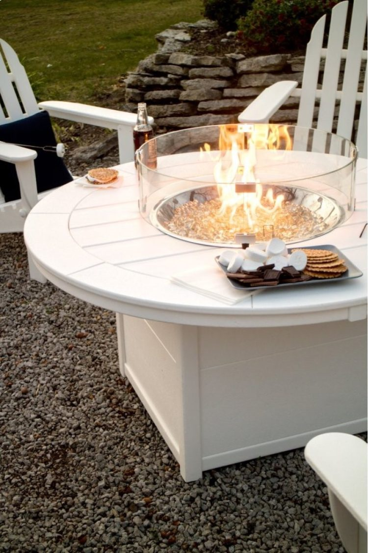 fire pit eating table