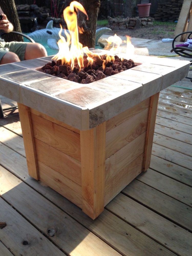 gas fire pit table ebay