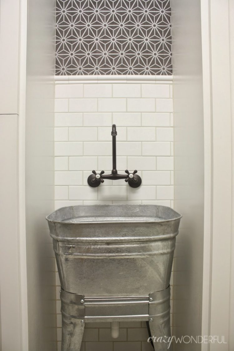 galvanized tub on stand kmart