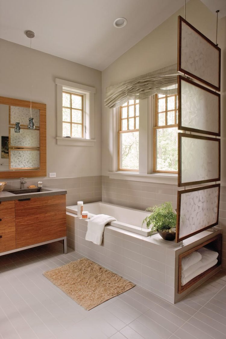 garden tub next to shower