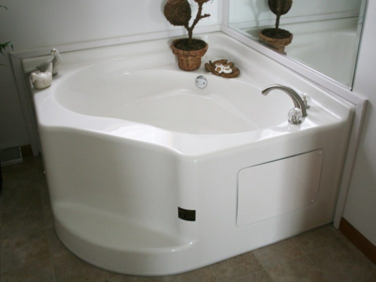 garden tub shower white