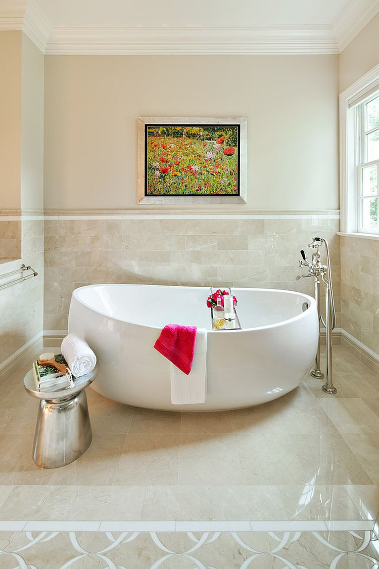 garden tub small white