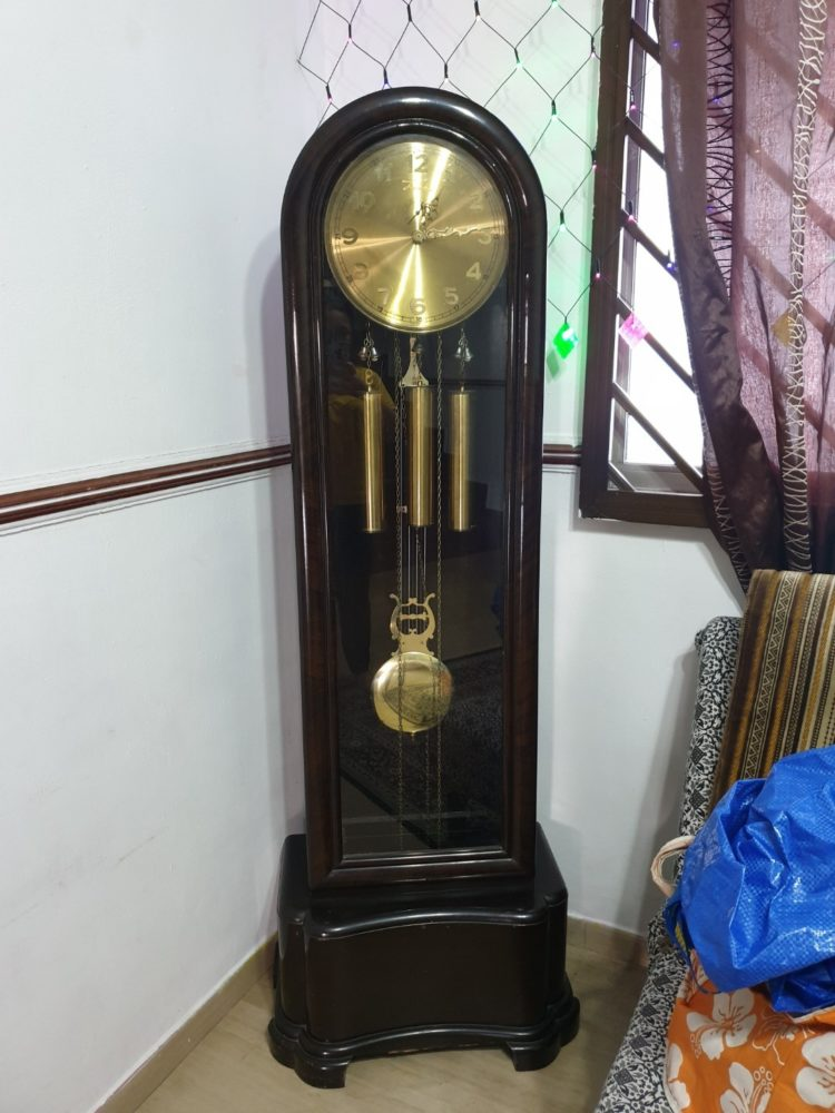 grandfather clock height