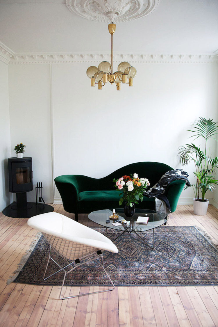 grey fainting couch