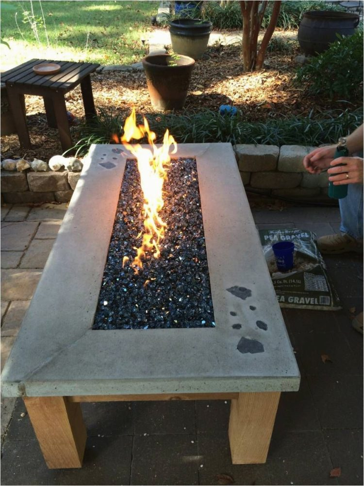 fire pit for table