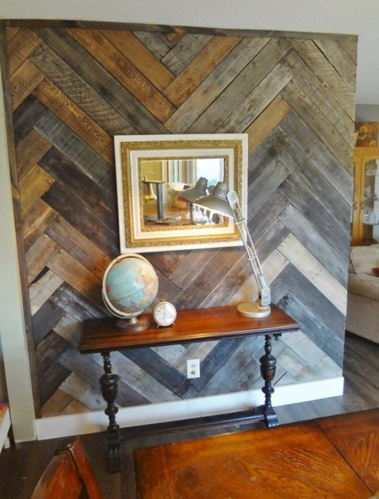 pallet wall entryway