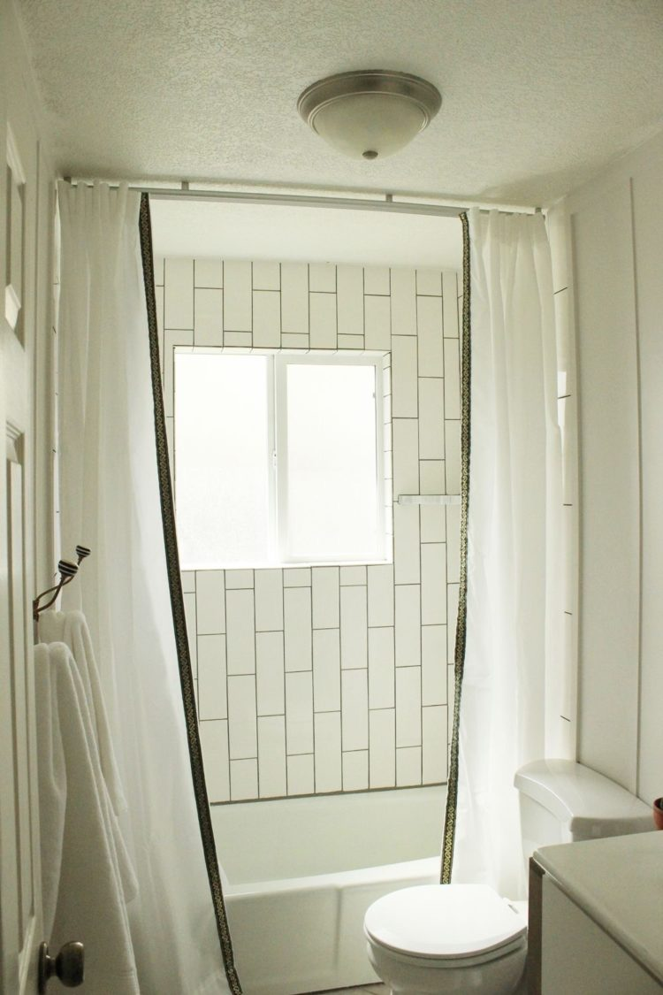 hookless shower curtain how to install