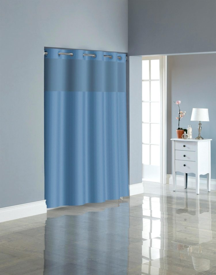 hookless shower curtain grey