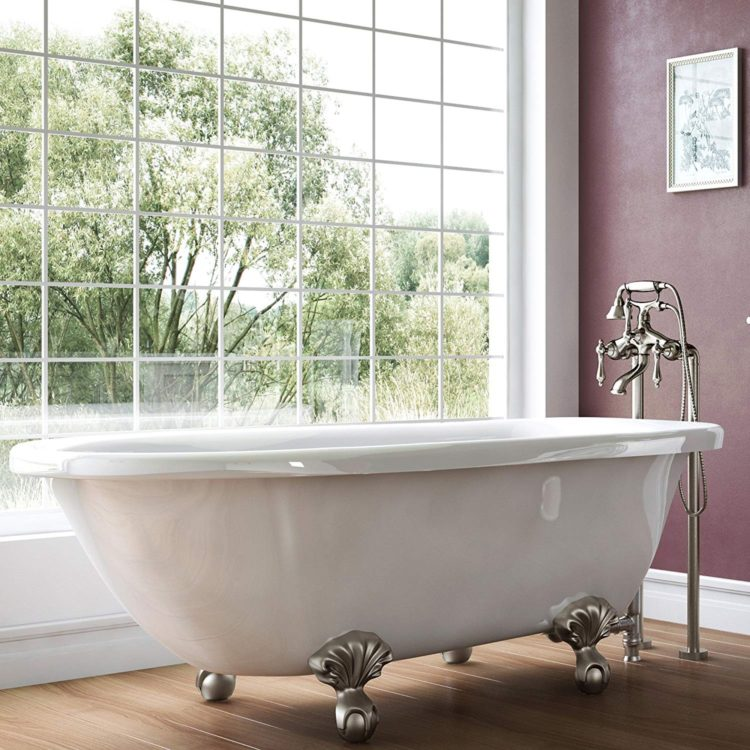 clawfoot tub for two