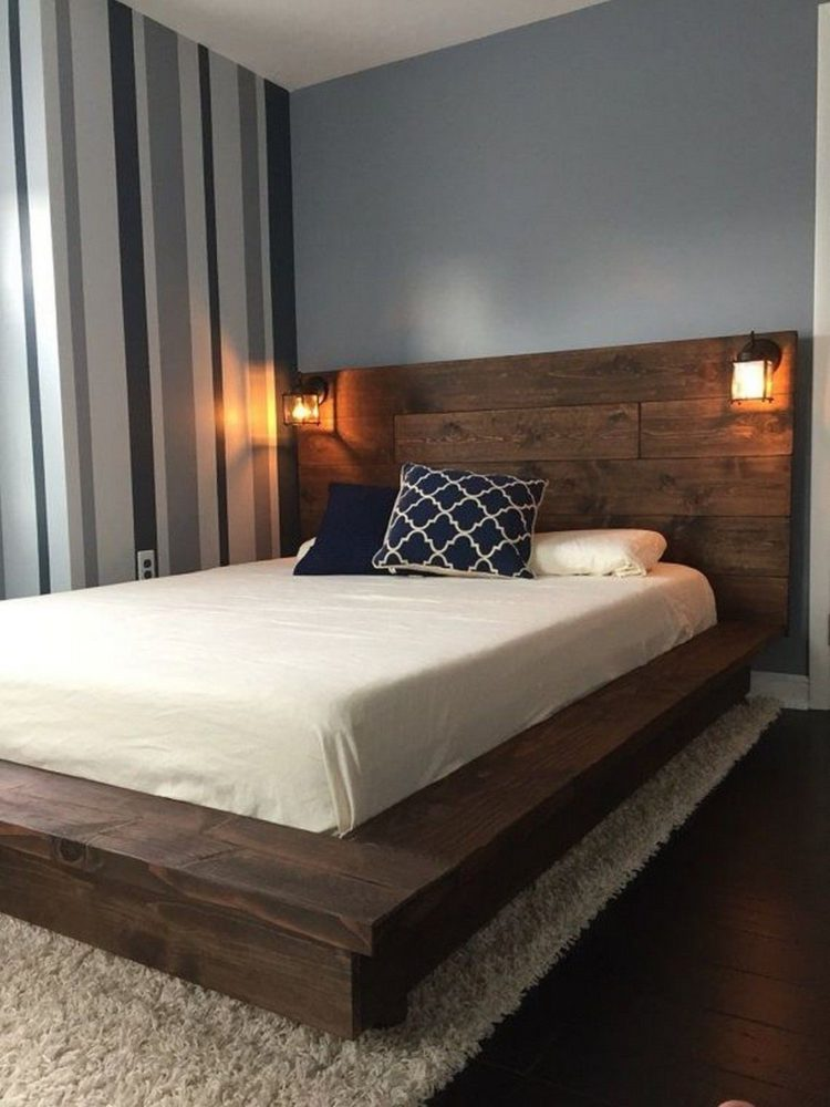 king size bed frame gray