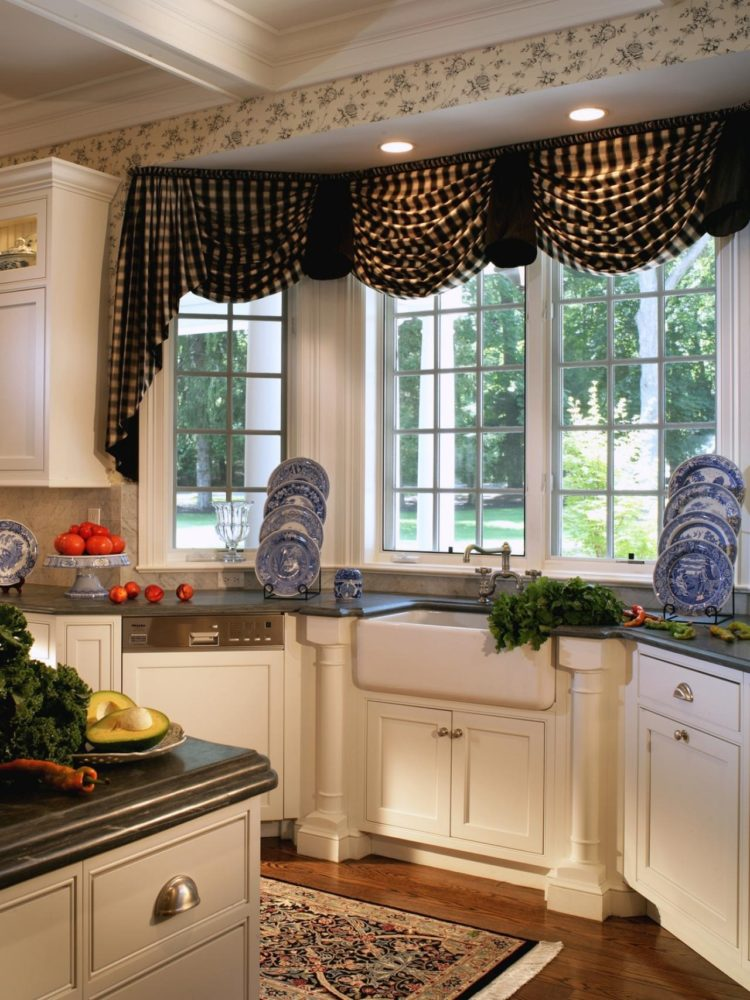 kitchen of curtains