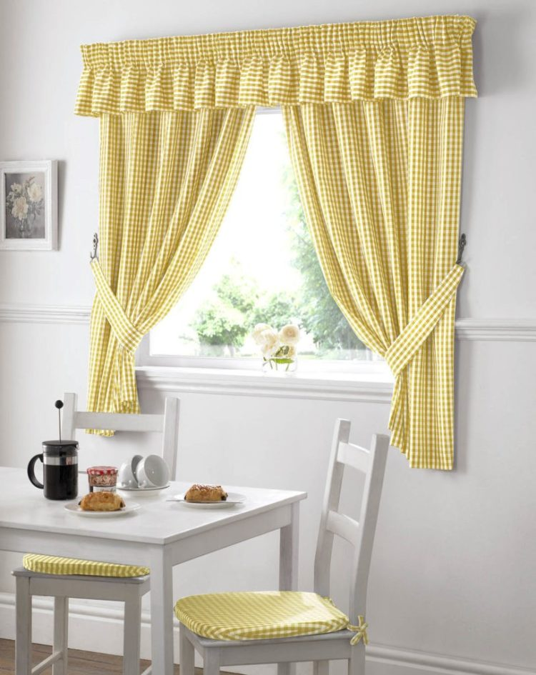 kitchen curtains lined