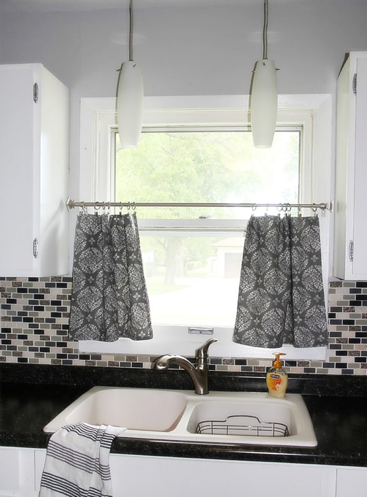 kitchen curtains beach