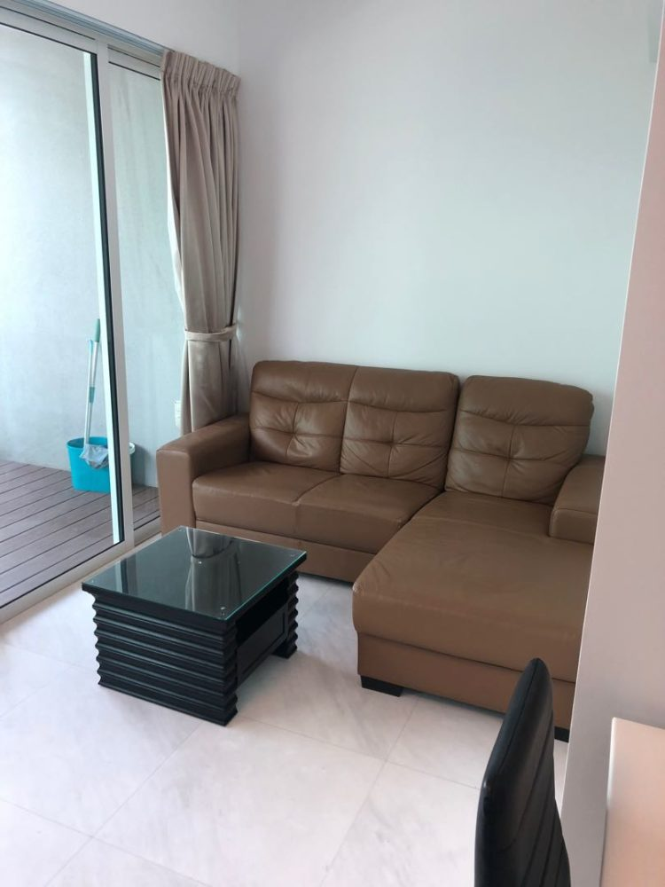 l shaped couch green