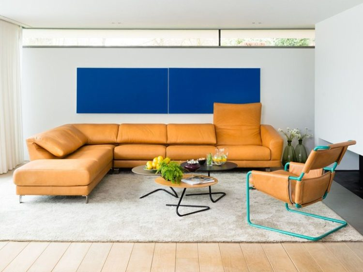 l shaped couch with rug