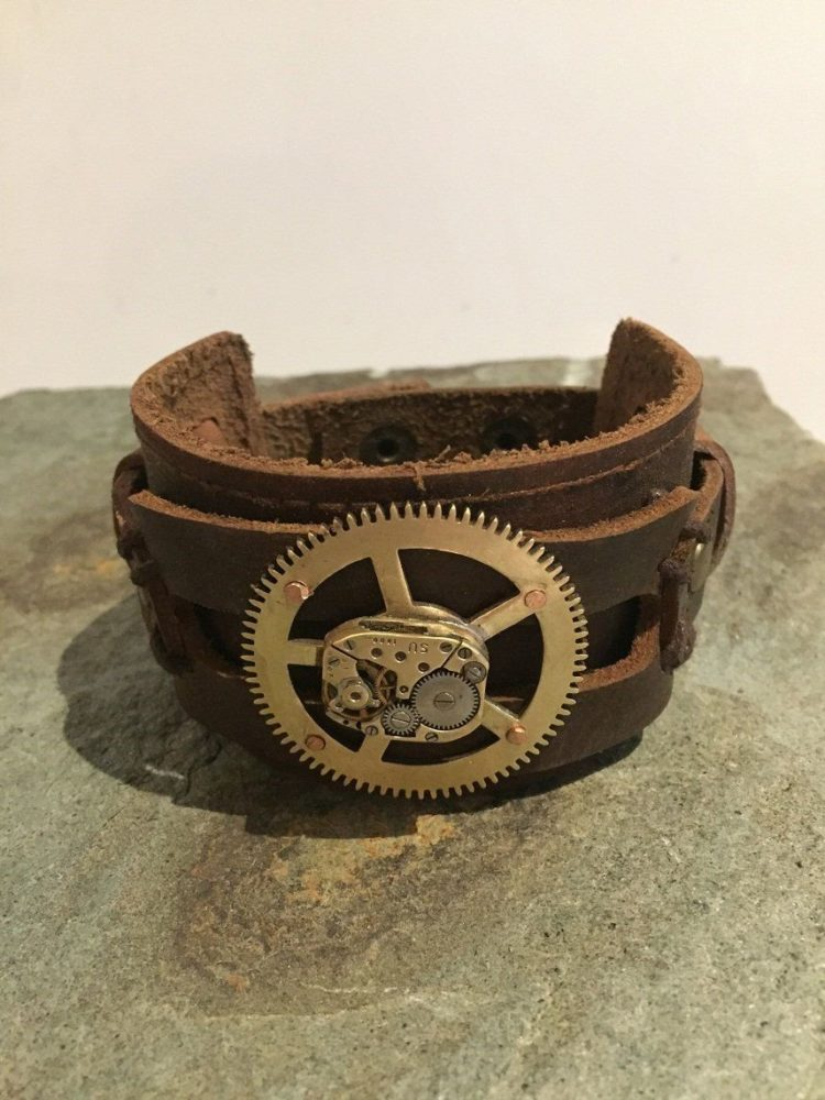 21 leather rustic cuff