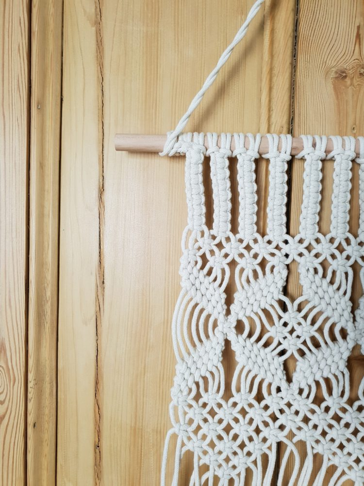 macrame wall hanging how much rope