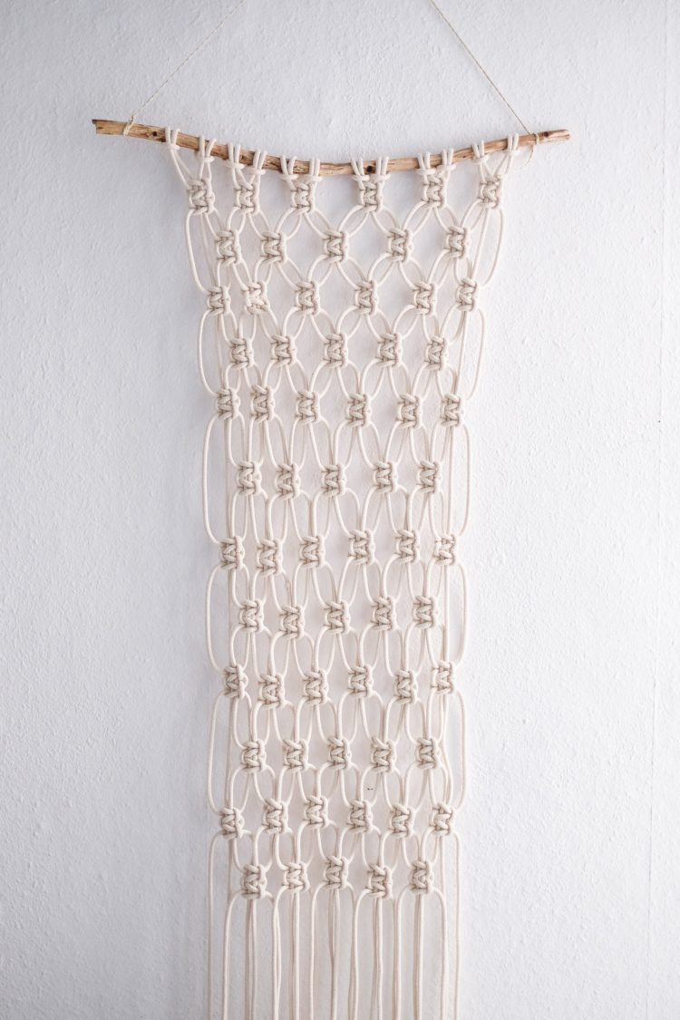 macrame wall hanging for plants