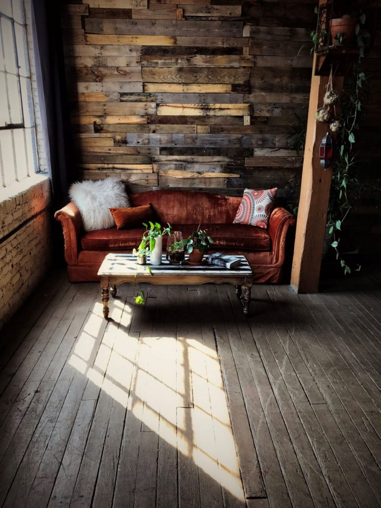 pallet wall electrical outlet